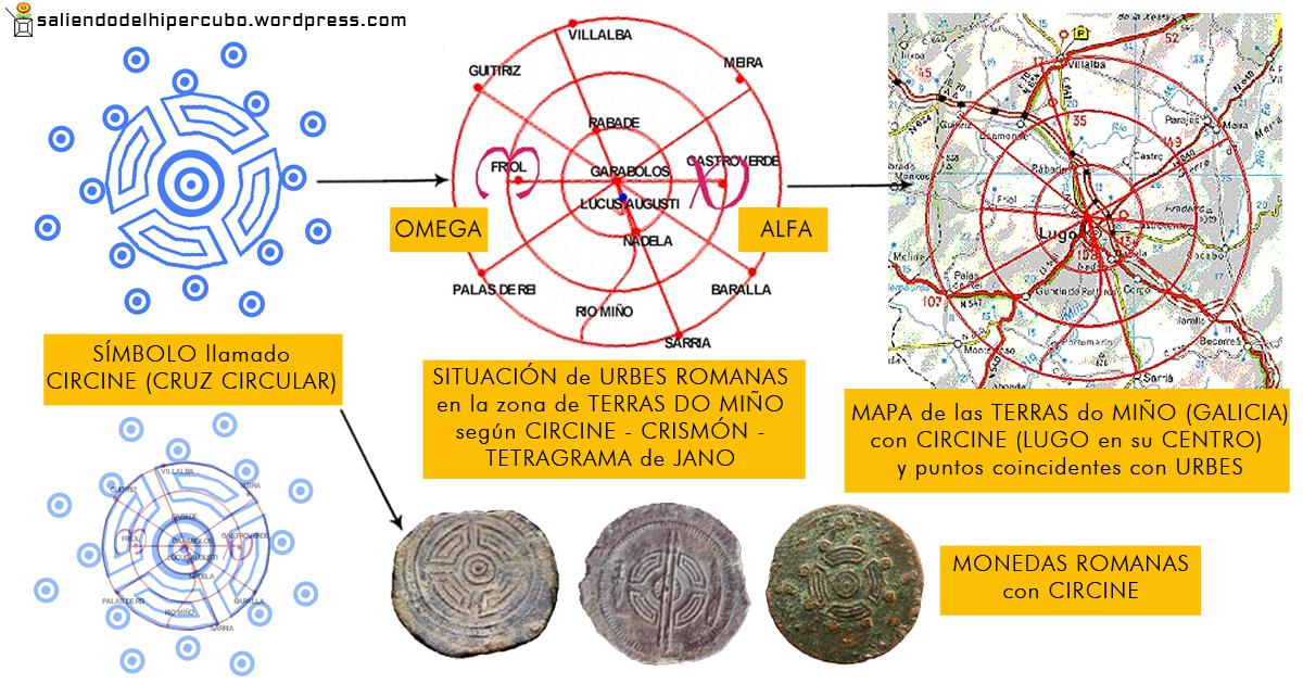 Tablero de Piedra Carlosa Sanchez Montaña Circine Terras do Miño Monedas Fractal Crismon Saliendo del Hipercubo (saliendodelhipercubo.wordpress.com)