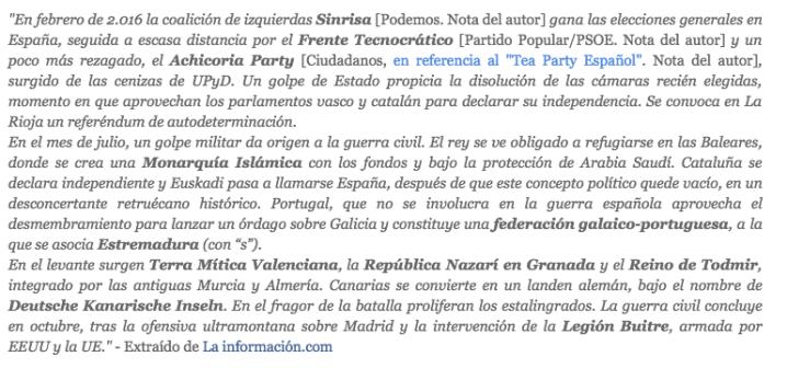 Frases Colapso España libro 2