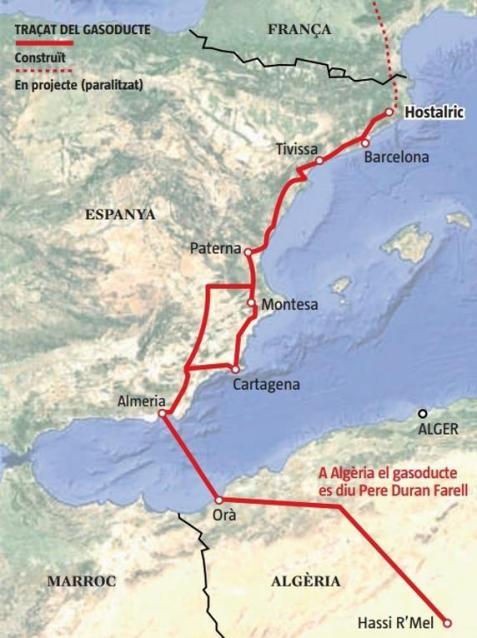 Graseoducto Norte Africa España midcat